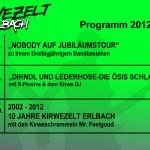 Kirwe 2012 - Veranstaltungen im Kirwezelt